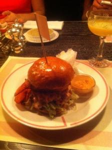 Lobster tail burger at BBR